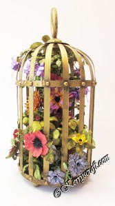 mixed media birdcage