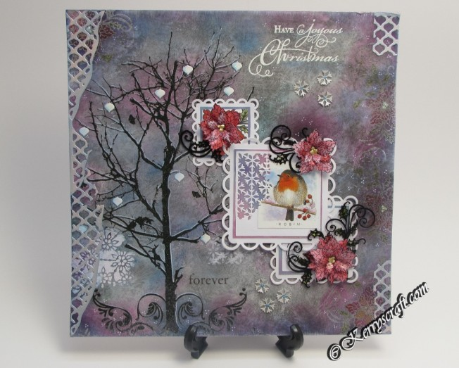 heartfelt creations sparkling poinsettia