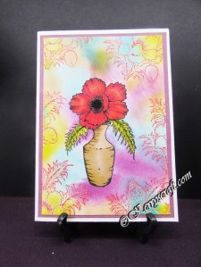 heartfelt blazing poppy vase