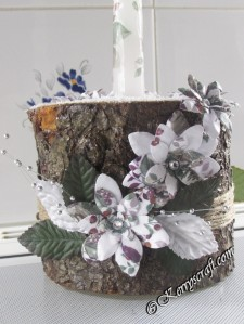decoupage log