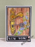 Heartfelt creations Floral Doorway & Latch card