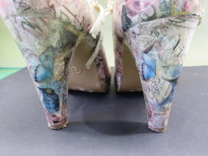 decoupage shoes heels