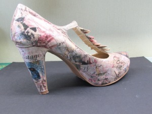 decoupage shoes side