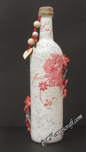 les-fleurs-napkin-wine-bottle