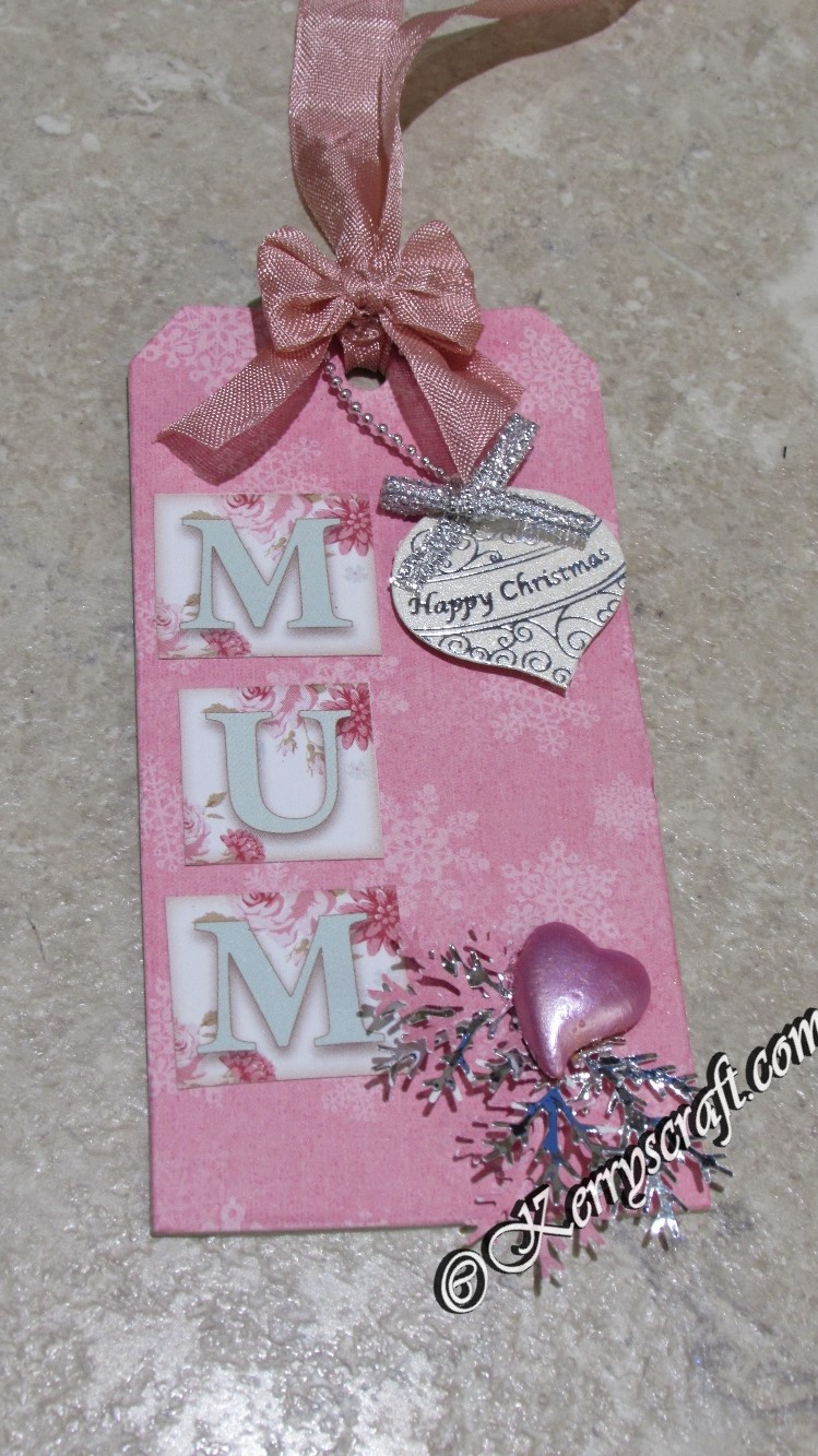 Christmas Mum tag | Kerry\'s Crafty Corner